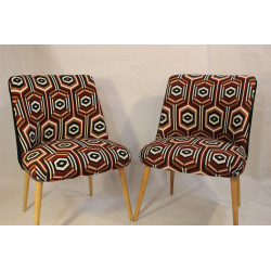 Pair of vintage armchairs 60s years