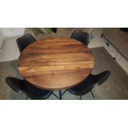 Table de salle à manger en noyer 100% bois