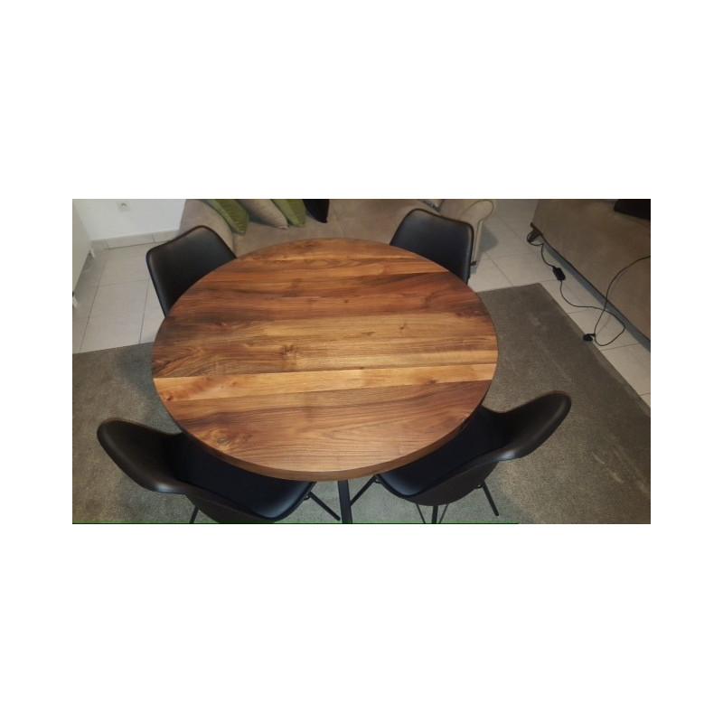 table design en noyer so chic so design. Black Bedroom Furniture Sets. Home Design Ideas