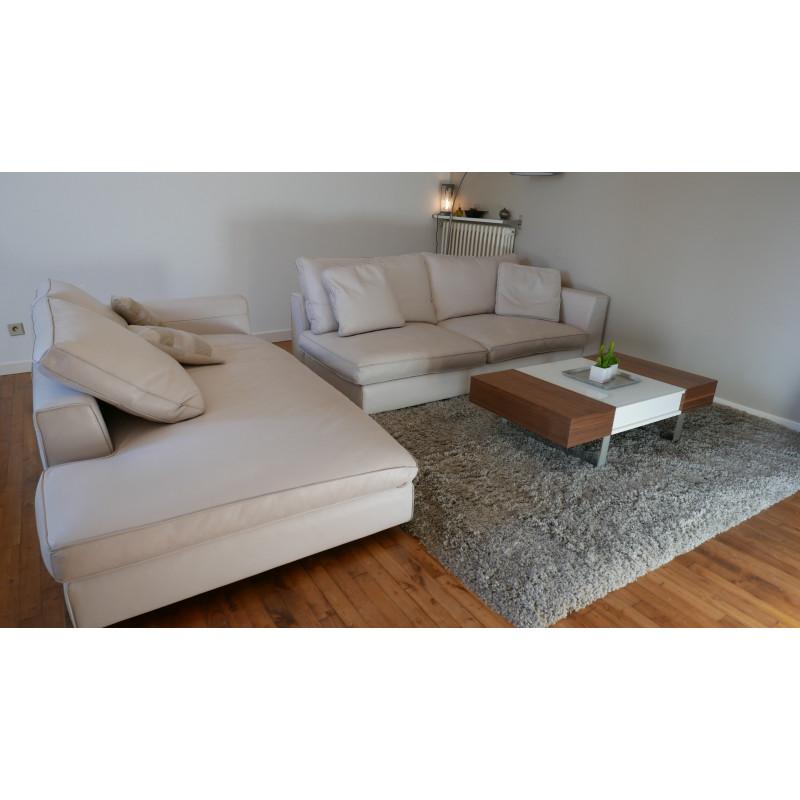 Leather sofa by Daniele LoScalzo Moscheri
