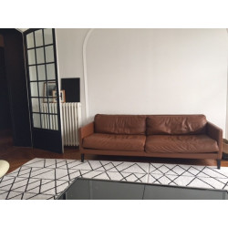 Durivier camel leather sofa