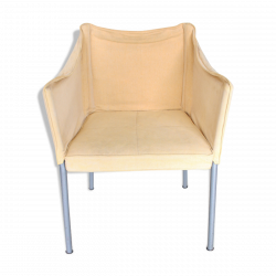 Vintage white armchair by Phillipe Starck