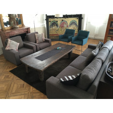 3 seater sofa set and 2 armchairs by Basix