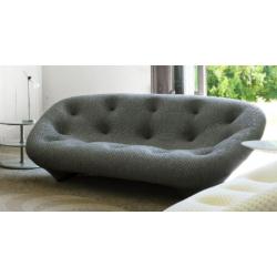 3- seater Ploum gray sofa- Ligne Roset