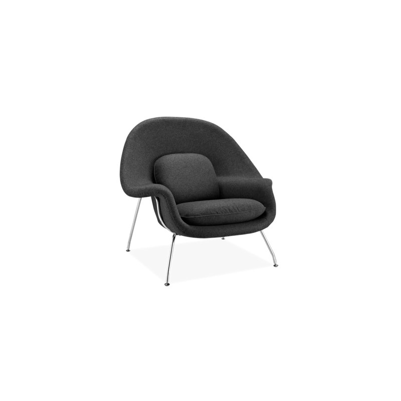 Fauteuil Noir -Le Womb Chair Relax par Eero Saarinen pour Knoll International