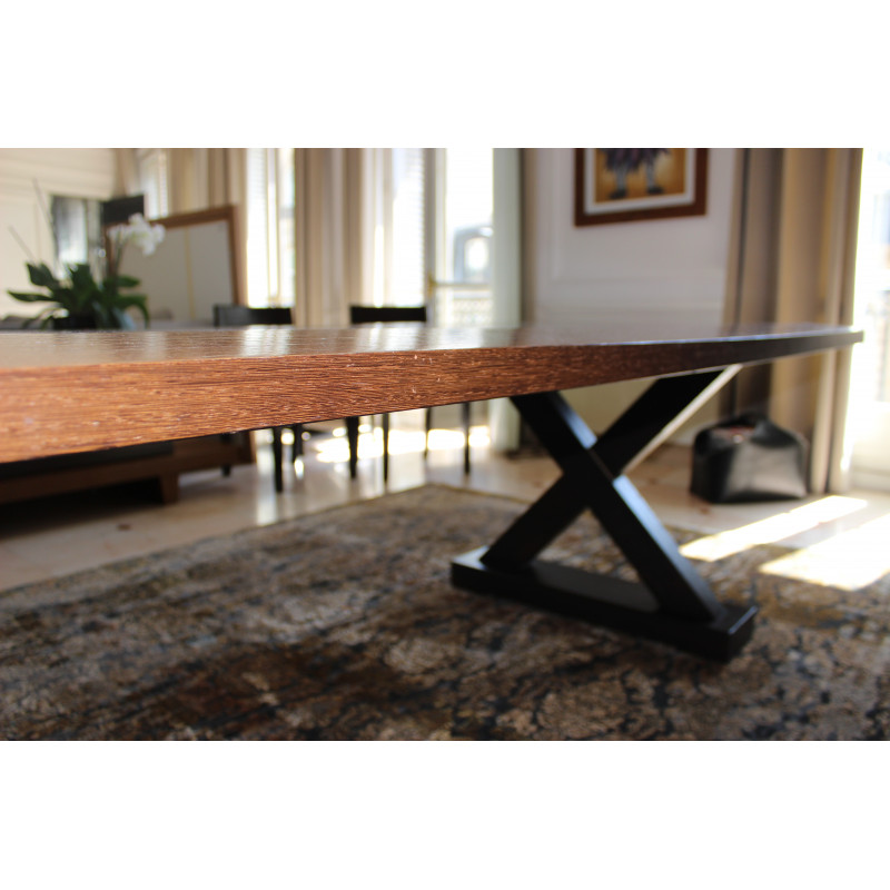 Solid wood dining table by Christian Liaigre