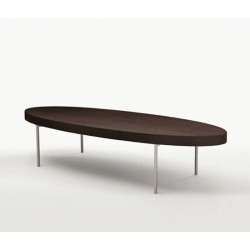 B & B Italia coffee table in gray oak by Antonio Citterio