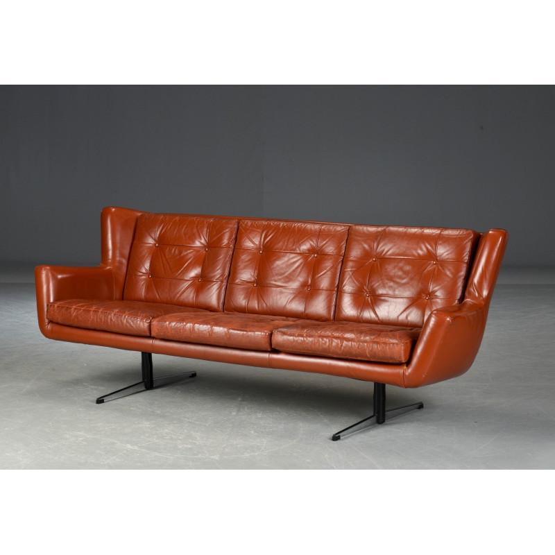 Canapé 3 places en cuir Skjold Sørensen
