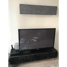 Meuble TV en verre modèle Lugano BoConcept