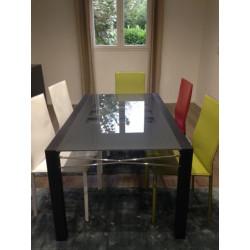 Table de repas à allonge intégrée Cinna de Didier Gommez