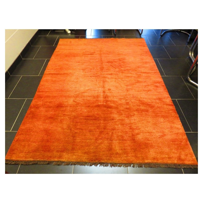 Tapis Gabbeh orange - 168 cm x 243 cm
