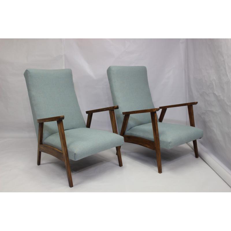 Paire de fauteuils style scandinave années 50