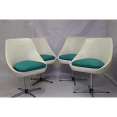 4 fauteuils pivotant vintage