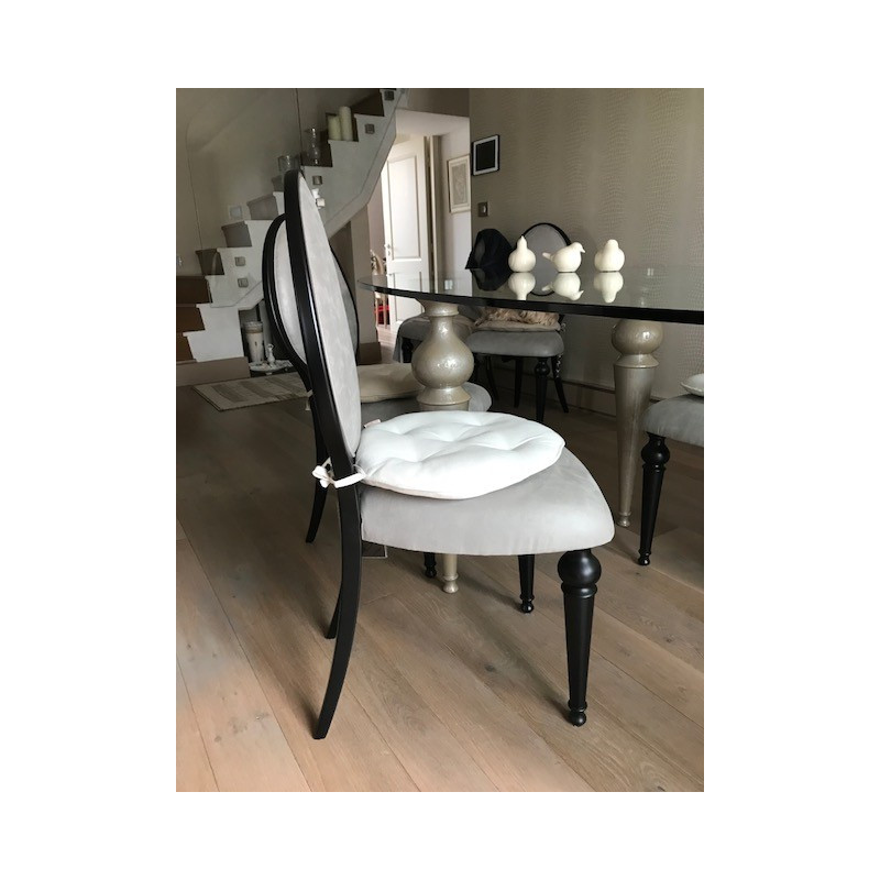 8 Ego cotton-acrylic chairs