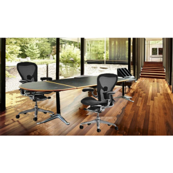 Burdick group desk table by Herman Miller