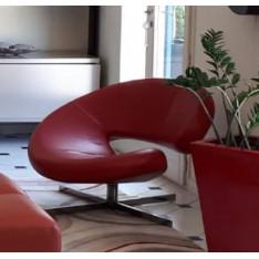 Fauteuil Nuage rouge cuir Roche Bobois
