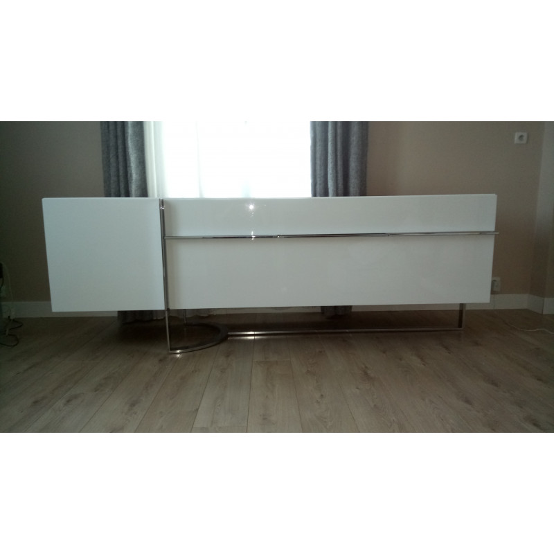 Preloved White Lacquer Sideboard Roche Bobois