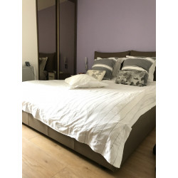 Leather headboard and frame of bed