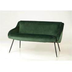 Canapé en velours vert foncé par Cades