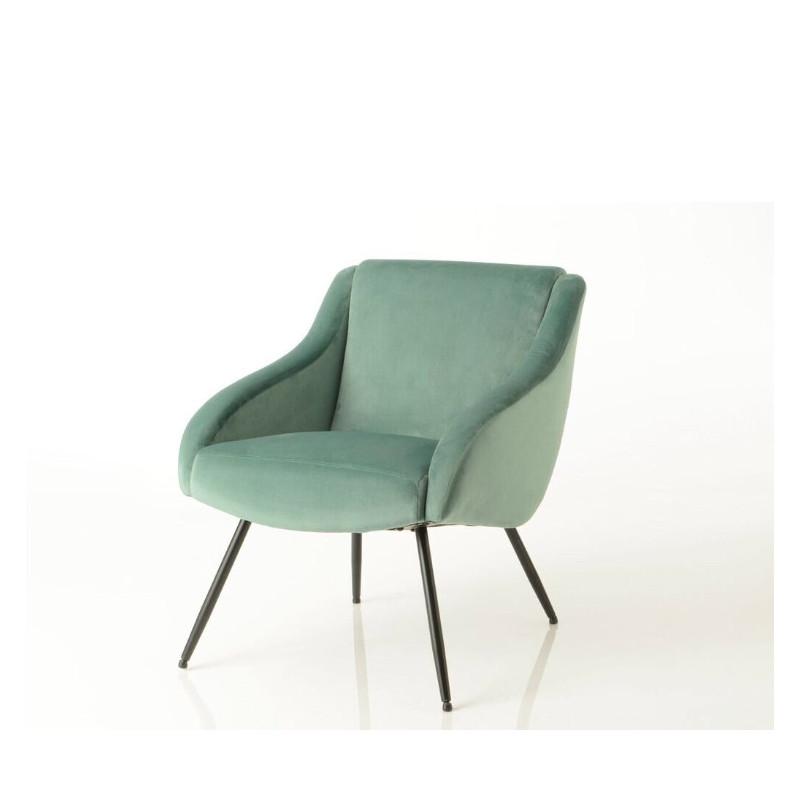 Vintage dark green velvet armchair by Cades
