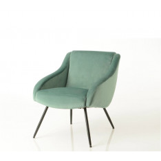 Vintage dark green velvet armchair by Cades