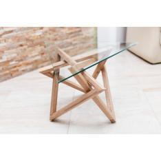 Table basse Lecce en bois et verre
