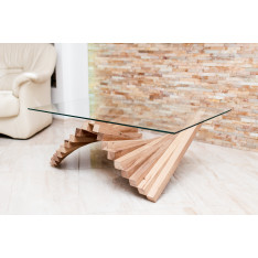 Ocean waves rectangular coffee table
