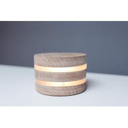 Super Nova round wooden lamp