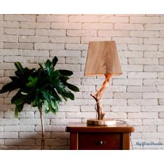 Mysen lampe en bois flotté