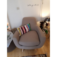 Taupe design armchair
