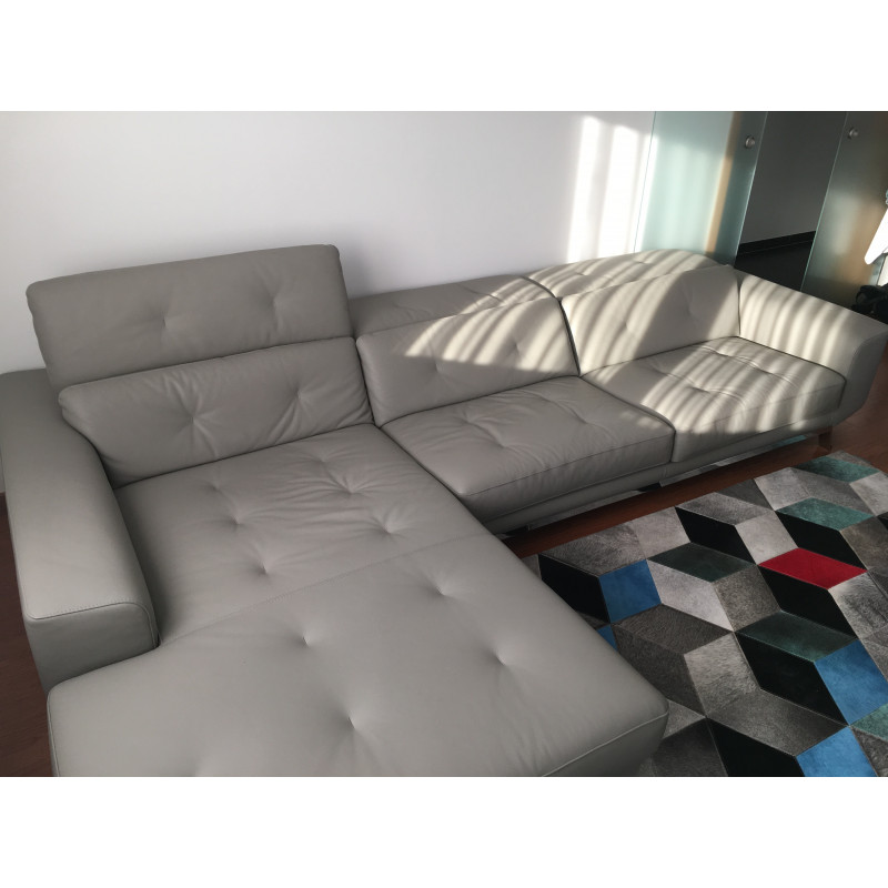 Corner leather sofa by Sacha Lakic for Roche Bobois