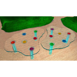 Set of 2 tables Toys + 2 side tables (100% glass)