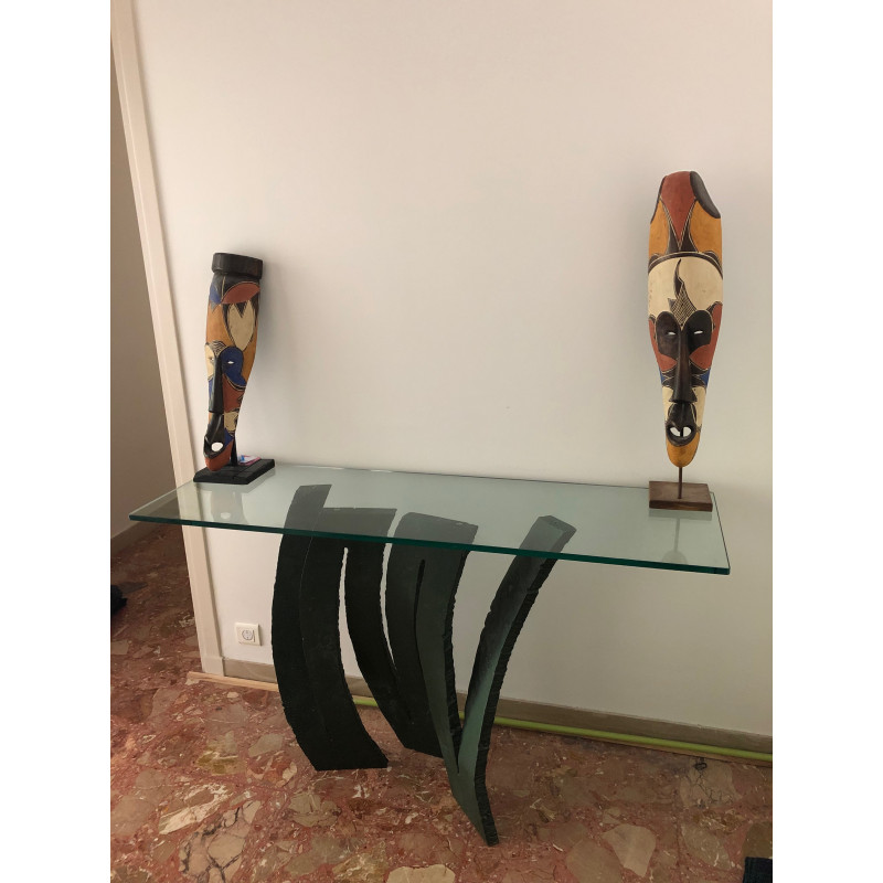 Fleur de Fer console table by Maurice Barilone for Roche Bobois