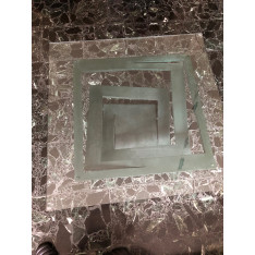 Table basse en verre Fleur de Fer Roche Bobois