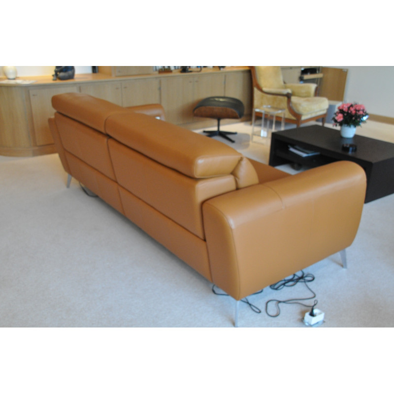 3 seater camel sofa by BoConcept