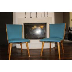 Paire de chaises vintage années 50