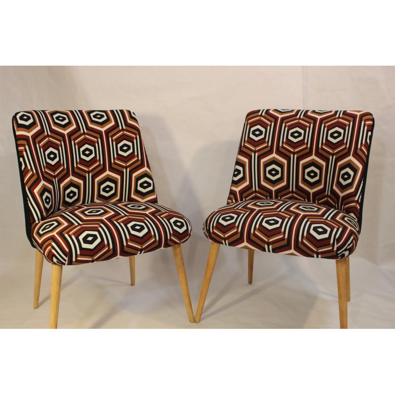 Pair of vintage armchairs 60s years