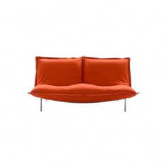 3 -seater red sofa by Pascal Mourgue- Cinna