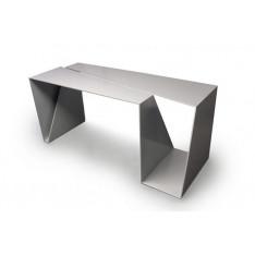 Monobloc aluminum desk by Benoît Parisel