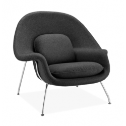Black Armchair -The Relax Womb Chair by Eero Saarinen for Knoll International