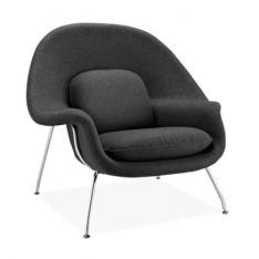 Fauteuil Noir -Le Womb Chair Relax par Eero Saarinen pour Knoll International