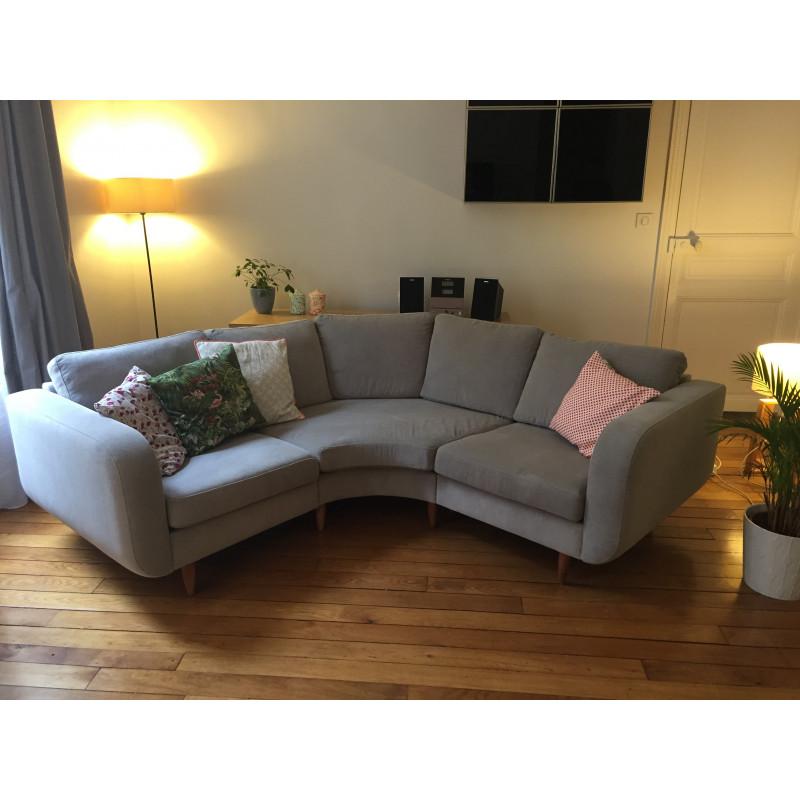 Canapé d'angle gris BoConcept