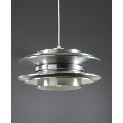 Chrome metal pendant lighting