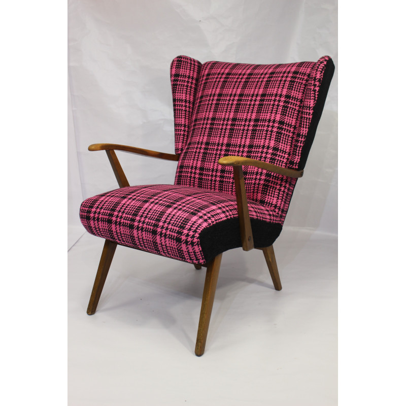 Vintage wing armchair years 50s-60s
