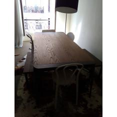 Table de repas 8-10 personnes Roche Bobois avec 2 bancs