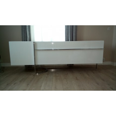 White lacquered sideboard Roche Bobois
