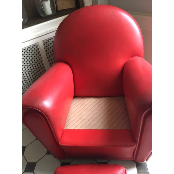 Vanity Fair fauteuil club en cuir rouge d'occasion par ...