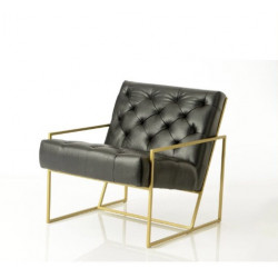 Cubic armchair in metal by Cades