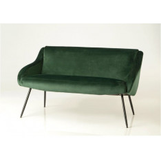 2-seater dark green velvet sofa by Cades
