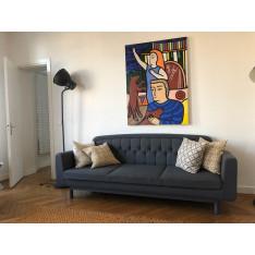 3-seater Onkel sofa in grey color by Normann Copenhagen